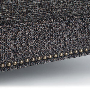 Ebony Tweed Fabric | Marcus Large Square Coffee Table Ottoman