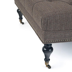 Mink Brown Tweed Fabric | Marcus Large Square Coffee Table Ottoman
