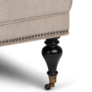 Warm Grey Tweed Fabric | Marcus Large Square Coffee Table Ottoman