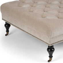 Load image into Gallery viewer, Warm Grey Tweed Fabric | Marcus Large Square Coffee Table Ottoman