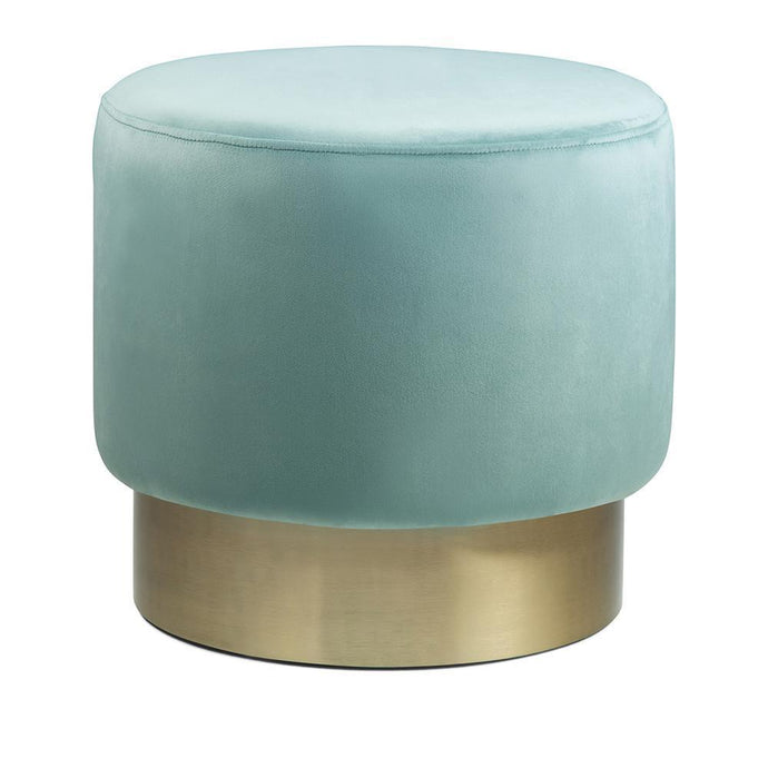 Sea Foam Green | Bardoe Small Round Ottoman Footstool