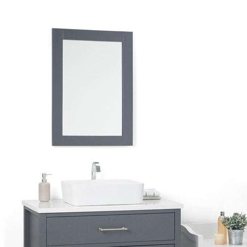 Charcoal Grey | Patton 22 x 30 inch Mirror