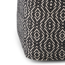 Load image into Gallery viewer, Black and Natural | Graham Square Pouf