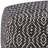 Graham Patterned Square Pouf