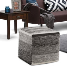 Load image into Gallery viewer, Grey Melange | Naya Patterned Cube Pouf
