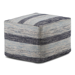 Clay Patterned Square Pouf
