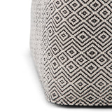 Brynn Patterned Square Pouf