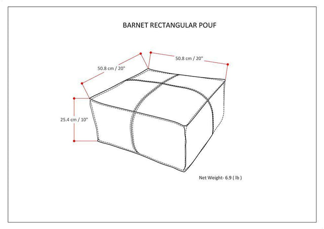 Load image into Gallery viewer, Barnett Square Pouf