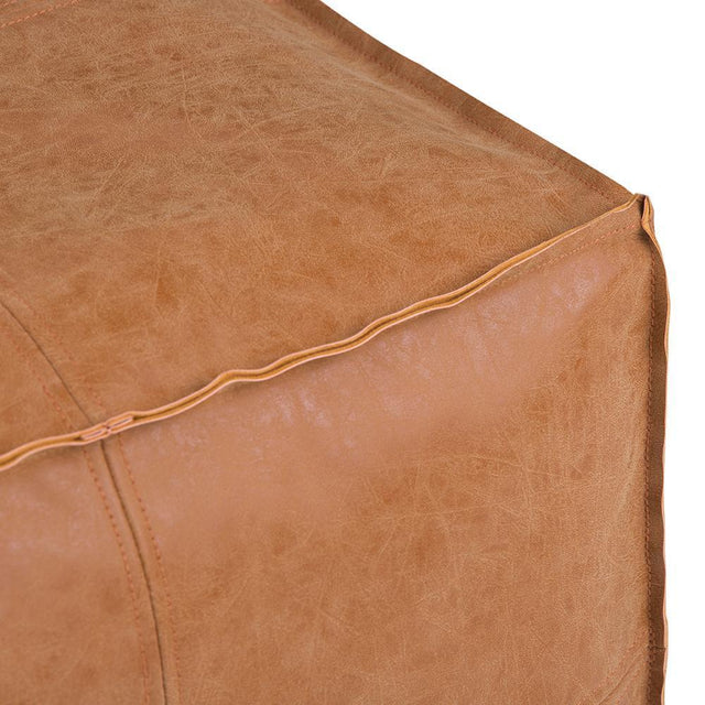 Load image into Gallery viewer, Distressed Brown | Brody Square Pouf