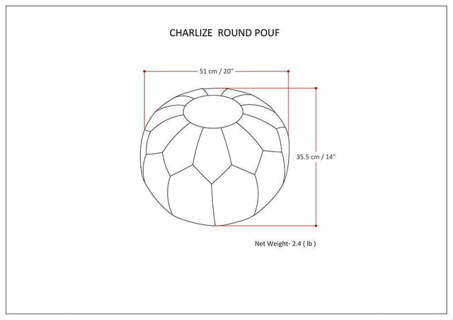 Load image into Gallery viewer, Gold | Charlize Round Pouf