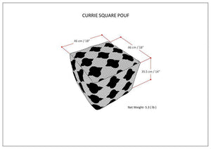 Currie 18 in Wide Square Pouf