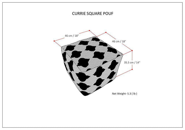Load image into Gallery viewer, Currie 18 in Wide Square Pouf