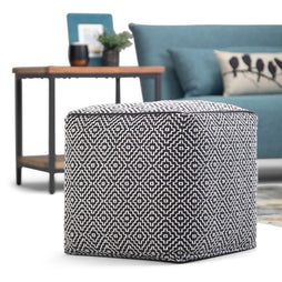 Colsen 18 in Wide Square Pouf