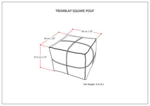 Tremblay Square Pouf