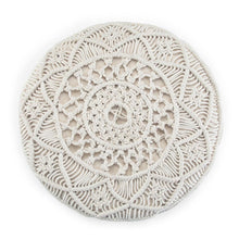 Load image into Gallery viewer, Coates Round Macrame Pouf