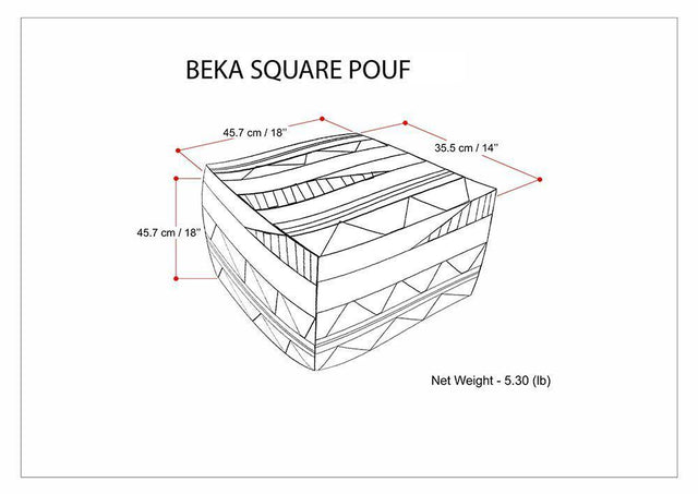 Load image into Gallery viewer, Beka 18 in Wide Square Pouf