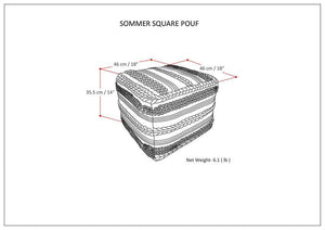 Sommer Square Pouf