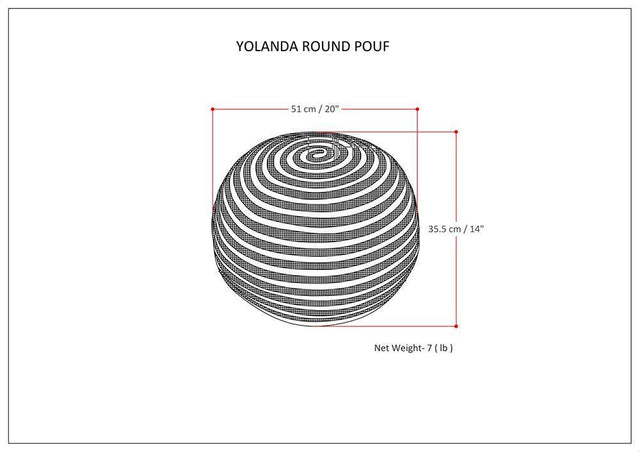 Load image into Gallery viewer, Yolanda Round Pouf