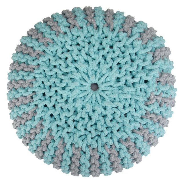 Load image into Gallery viewer, Celia Hand Knit Round Pouf