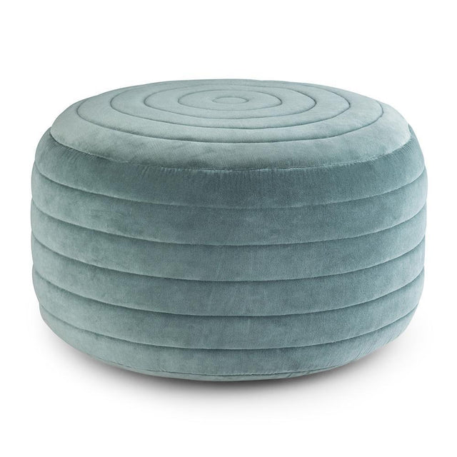 Load image into Gallery viewer, Turquoise | Vivienne Round Pouf