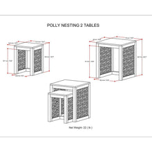Load image into Gallery viewer, Cinnamon |  Polly Nesting 2 pc Table