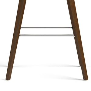 Dark Brown Faux Leather | Randolph Bentwood 30 inch Bar Stool (Set of 2)