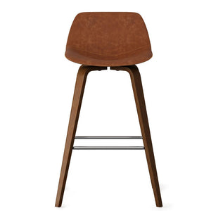 Deep Tan Faux Leather | Randolph Bentwood 30 inch Bar Stool (Set of 2)