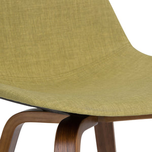 Natural and Acid Green Linen Look Fabric | Randolph Bentwood 30 inch Bar Stool (Set of 2)