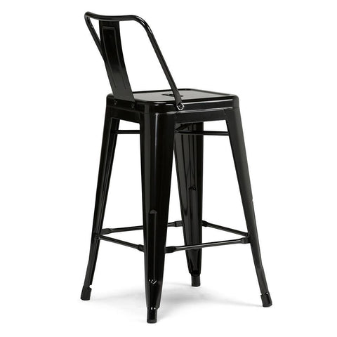 Black | Rayne 24 inch Metal Counter Height Stool