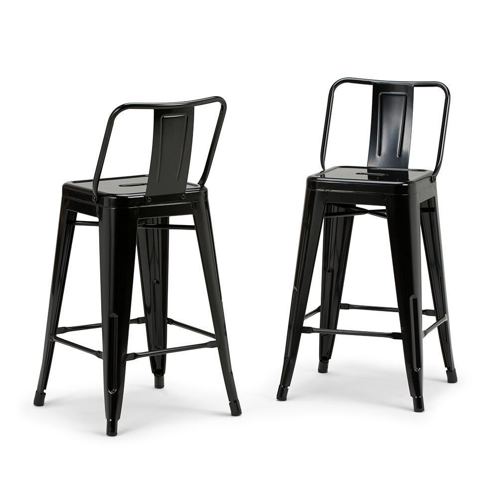 Outstanding Rayne 24 Inch Metal Counter Height Stool Set Of 2 Pabps2019 Chair Design Images Pabps2019Com