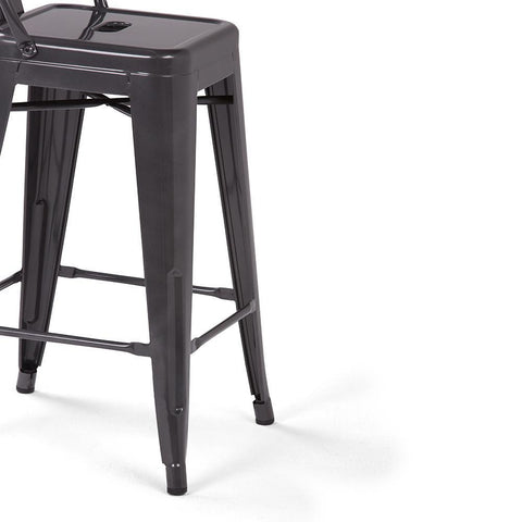 Silver | Rayne 24 inch Metal Counter Height Stool