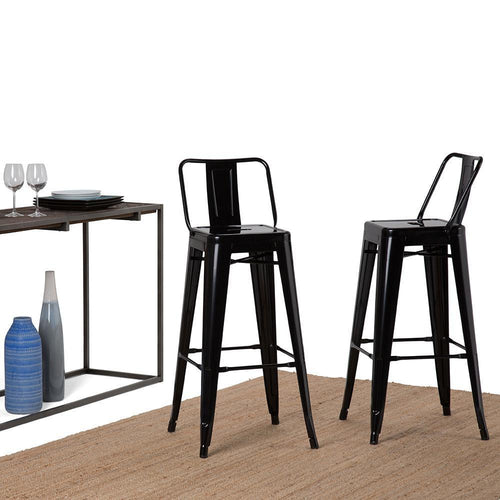 Black | Rayne 30 inch Metal Bar Stool