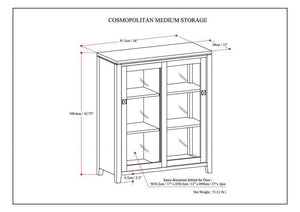 Mahogany Brown | Cosmopolitan Medium Storage Cabinet