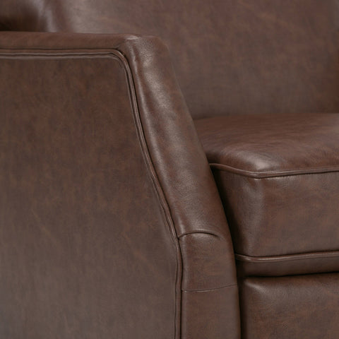 Brown | Noah Air Faux Leather Push Arm Recliner