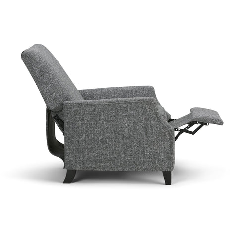 Grey | Noah Air Faux Leather Push Arm Recliner
