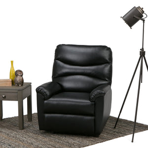 Clancy Gel Leather Glider Recliner