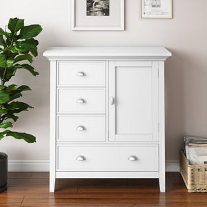 White | Redmond 39 inch Medium Storage Cabinet