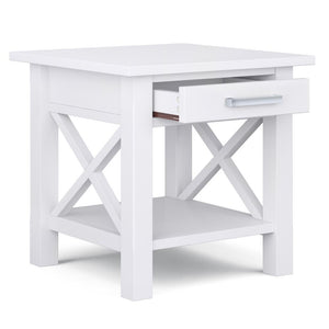 White | Kitchener 20.5 inch End Side Table