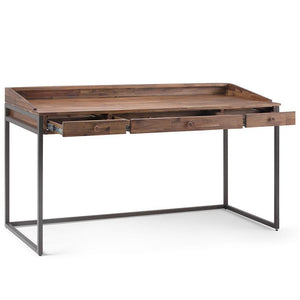 Rustic Natural Aged Brown | Ralston Solid Acacia Desk