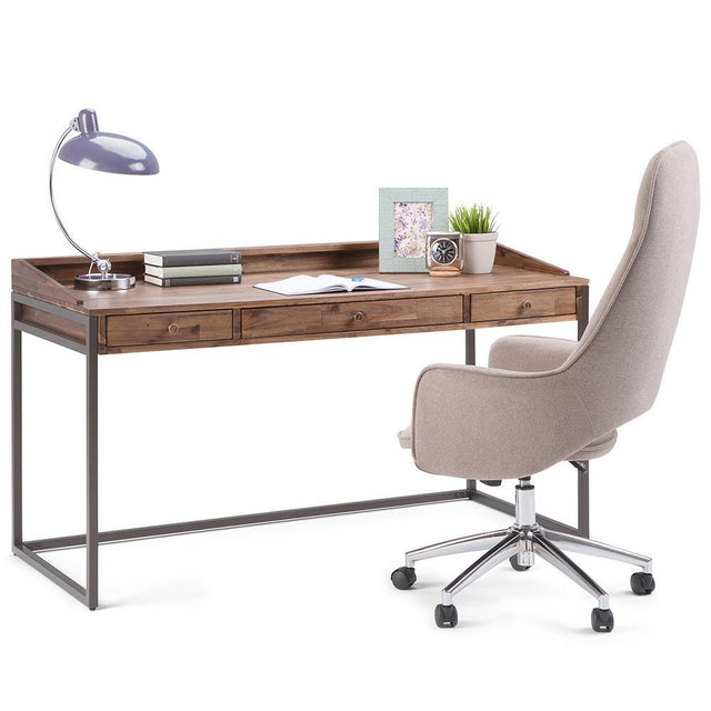 Load image into Gallery viewer, Rustic Natural Aged Brown | Ralston Solid Acacia Desk
