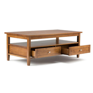 Light Golden Brown | Warm Shaker 48 inch Coffee Table
