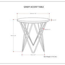Load image into Gallery viewer, Sandy Accent Table