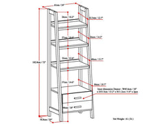 Load image into Gallery viewer, White | Sawhorse 24 inch Ladder Shelf with Storage