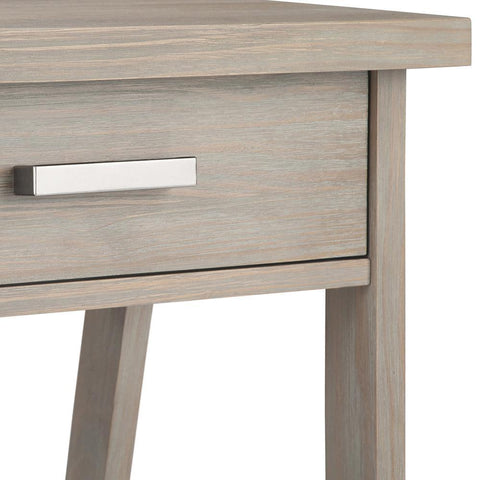 Distressed Grey | Sawhorse Bedside Table