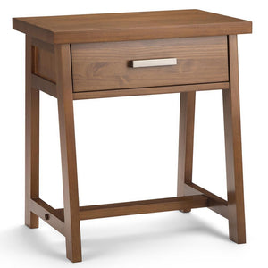 Medium Saddle Brown | Sawhorse Bedside Table
