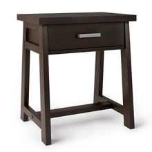 Load image into Gallery viewer, Dark Chestnut Brown | Sawhorse Bedside Table