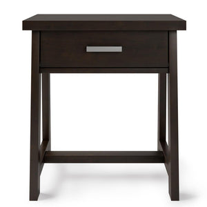 Dark Chestnut Brown | Sawhorse Bedside Table