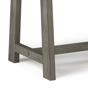 Farmhouse Grey | Sawhorse Bedside Table