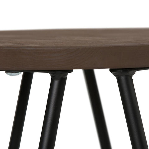 24 inch | Simeon 24 inch Counter Height Stool with Wood Seat