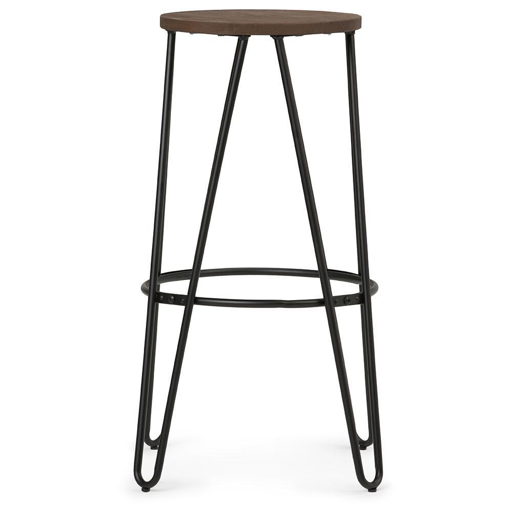 Brilliant Simeon 24 Inch Metal Counter Height Stool With Wood Seat In Uwap Interior Chair Design Uwaporg